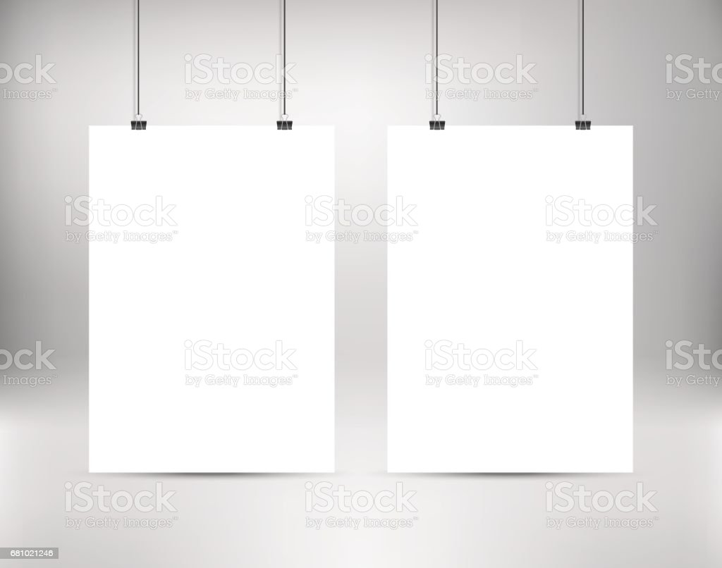 Empty white vector poster templates. Two white blank vector posters. royalty-free empty white vector poster templates two white blank vector posters stock vector art & more images of banner - sign