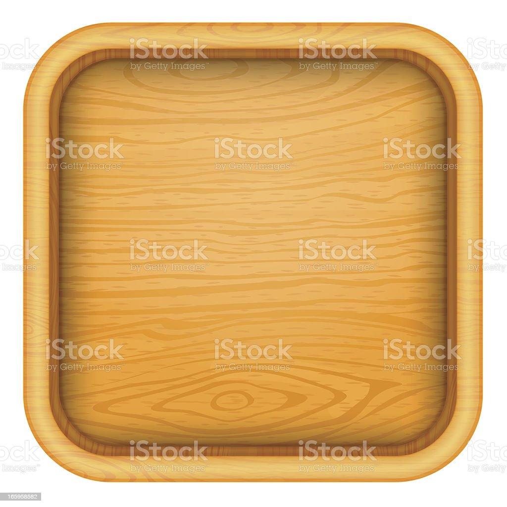 Empty wood box icon royalty-free stock vector art