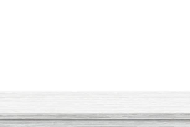 あなたのプロダクトを表示するか、またはモンタージュのために使用される白い背景の空の木のテーブルの上 - 窓口点のイラスト素材/クリップアート素材/マンガ素材/アイコン素材