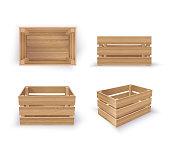 Empty Wooden Crates