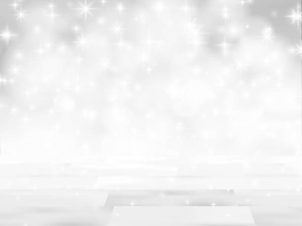 ilustrações de stock, clip art, desenhos animados e ícones de empty wooden table in front of glitter lights background. de-focused blurred silver backdrop. ready for product mock ups or display montage. - christmas table