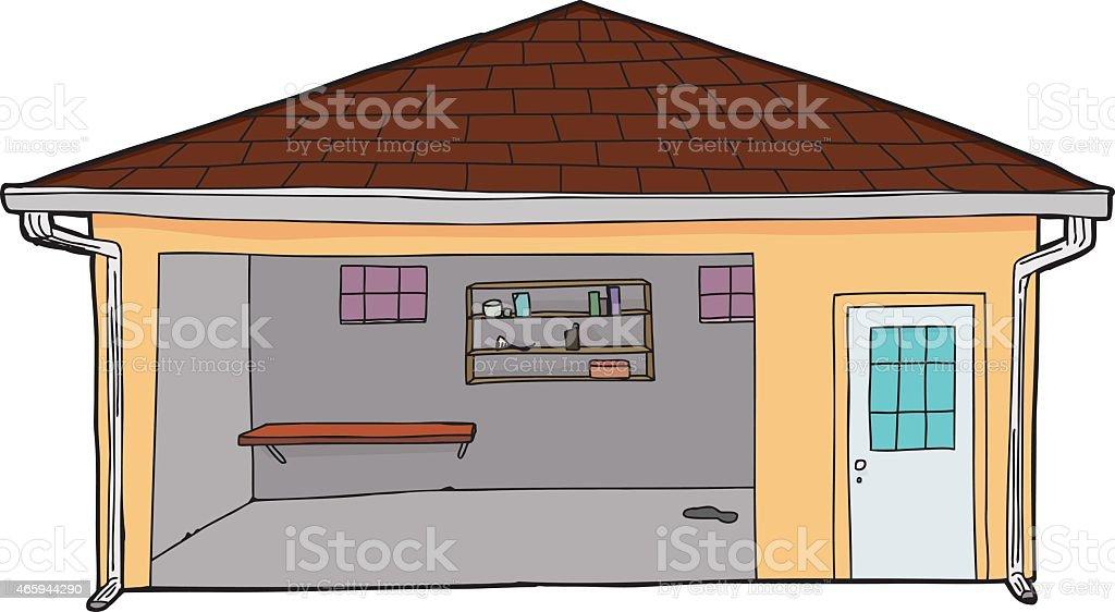 Royalty Free Garage Door Open Clip Art Vector Images