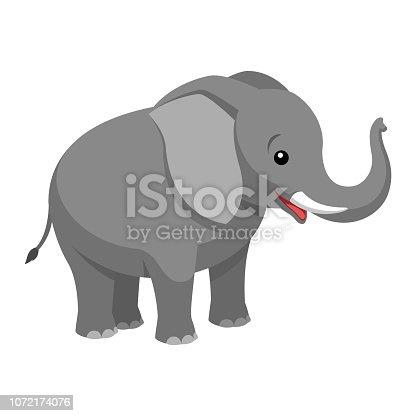 Illustrationen visar en tecknad elefant