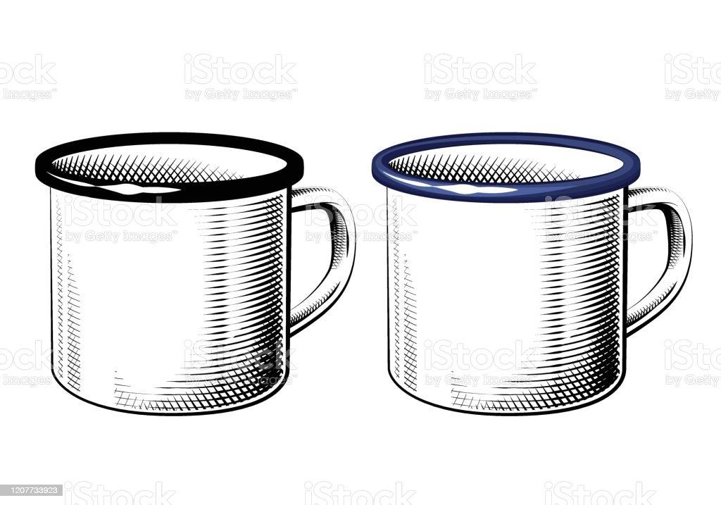 Enamel Mug Sketch Stock Illustration Download Image Now Istock
