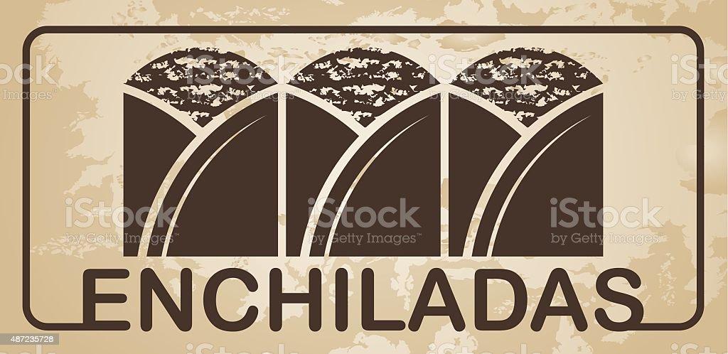 Enchiladas vector vector art illustration