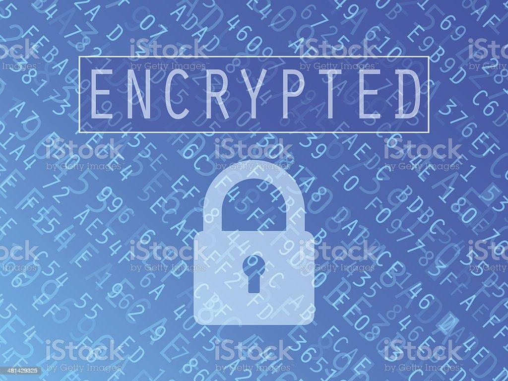 Encrypted Data Background vector art illustration