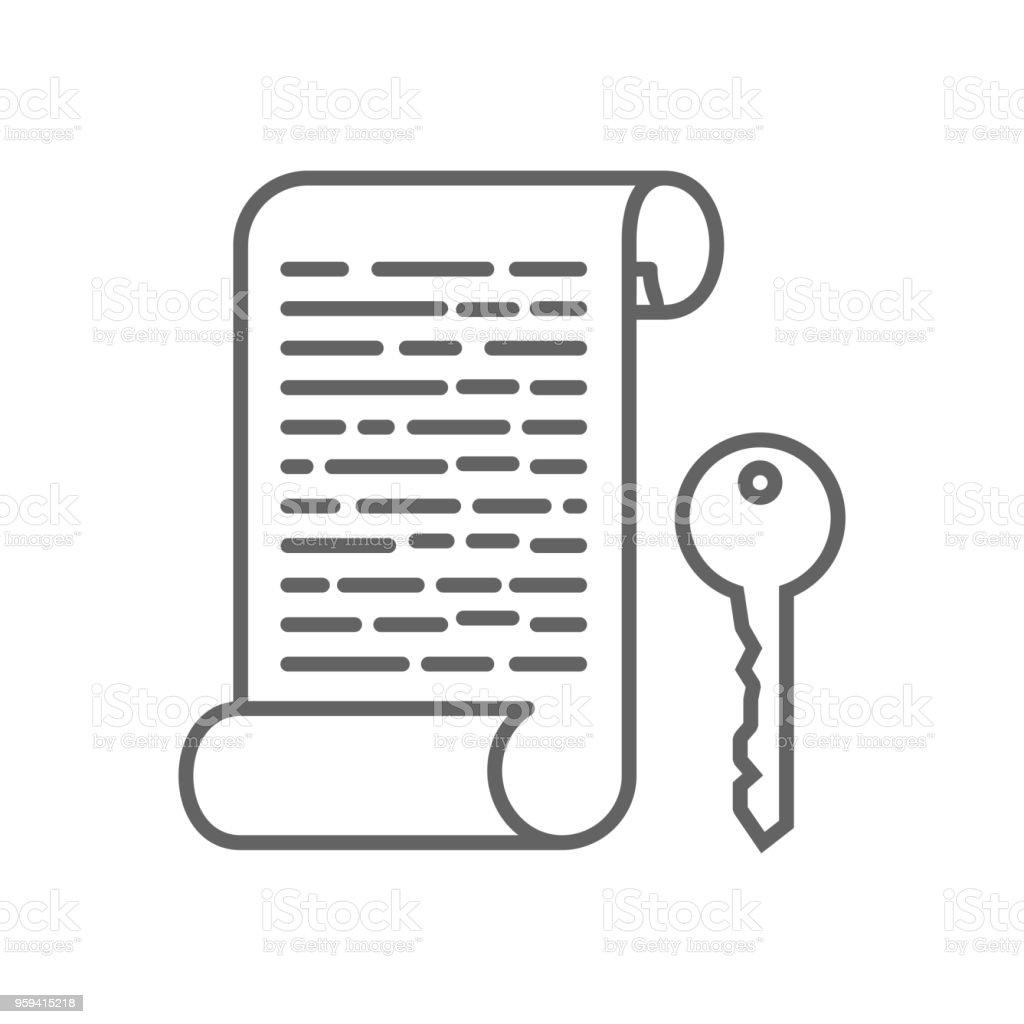 Encryption Key Codes Thin Line Symbol Icon Design Stock Vector Art