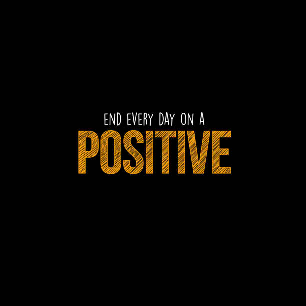 End every day on a positive vector art illustration