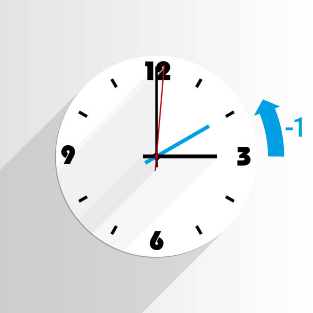 end of daylight saving time dst - daylight savings time stock illustrations, clip art, cartoons, & icons