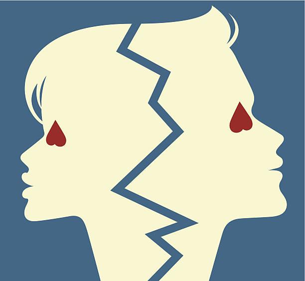Koniec miłości. – artystyczna grafika wektorowa