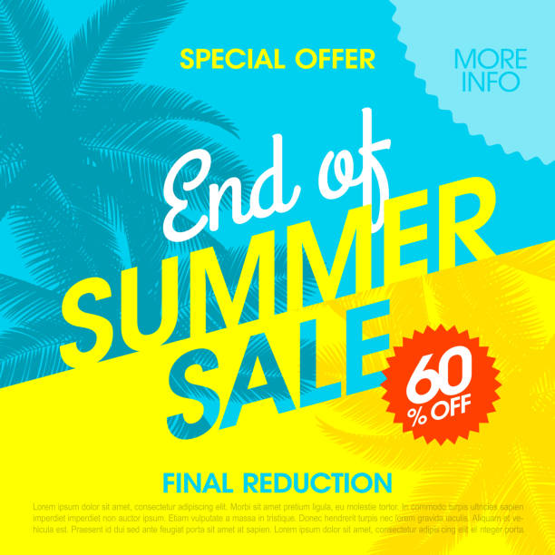 End Of Summer Sale banner - Illustration vectorielle