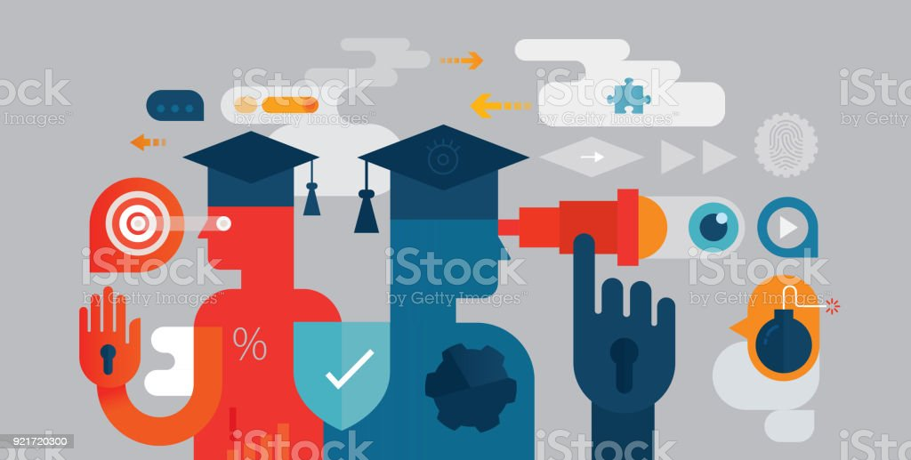 Endbenutzer-Bildung – Vektorgrafik