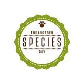 Endangered Species Day Label