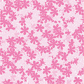 endless delicate pattern spring flowers apple cherry blossom.
