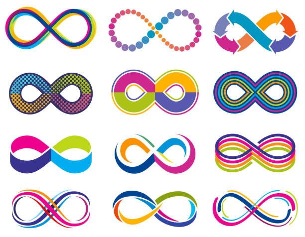 Endless mobius loop infinity vector concept symbols. Eternity icons Endless mobius loop infinity vector concept symbols. Eternity icons. Loop icon eternity, illustration of infinity symbol infinity stock illustrations