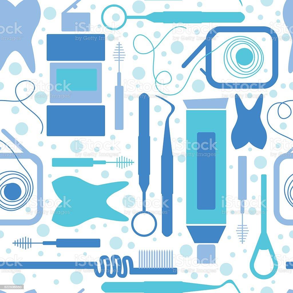 Endless Pattern On Dental Care Theme Royalty Free Stock