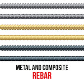 Endless rebars. Reinforcement steel and composite.
