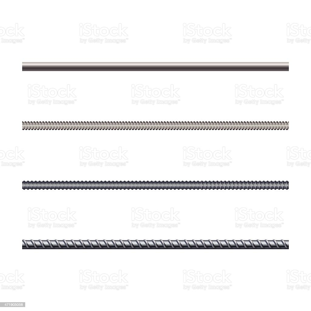 Endless rebars, reinforcement steel, vector illustration vector art illustration