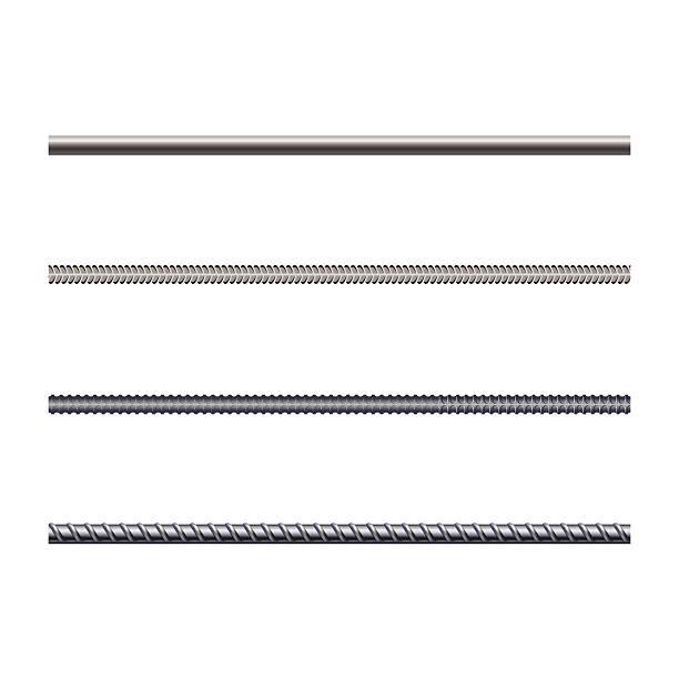 Endless rebars, reinforcement steel, vector illustration Endless rebars, reinforcement steel, vector illustration rod stock illustrations