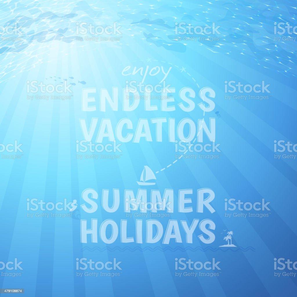 Endless vacation background vector art illustration