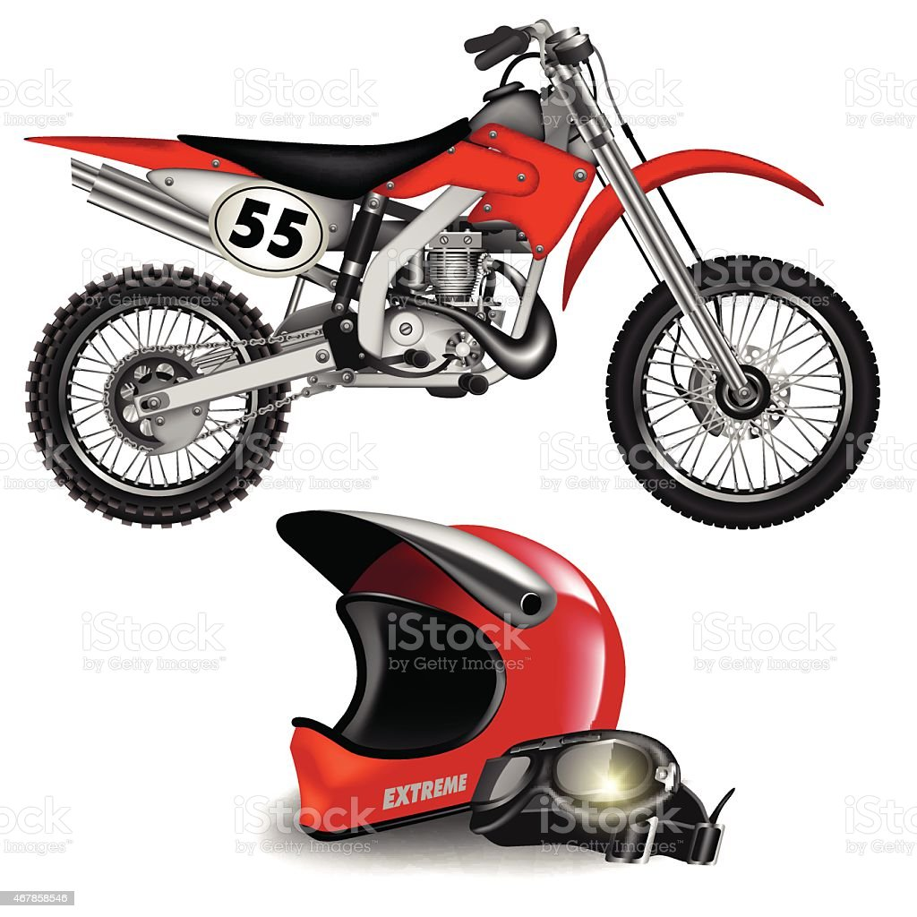 Enduro bike vector art illustration