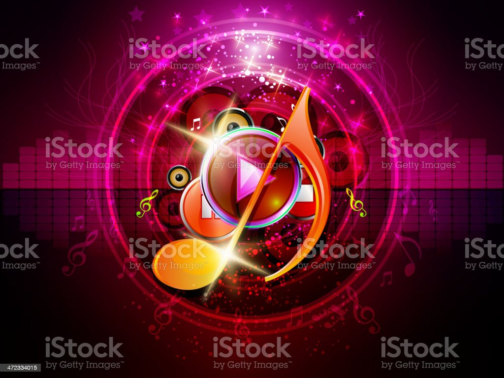 Energetic Music Background royalty-free stock vector art