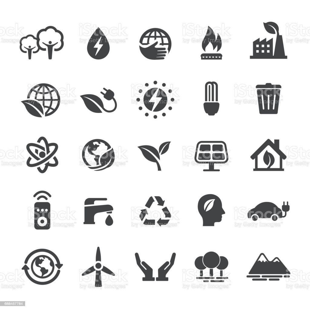 Energy and Eco Icons - Smart Series vector art illustration