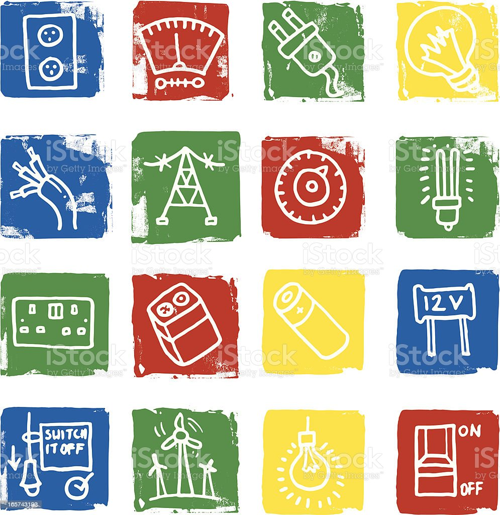 Energy and electricity icons royalty-free energy and electricity icons stock vector art & more images of battery