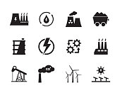 Energy and Industry Icon Set