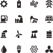 Vector file of Energy and Industry Icons - Black Series