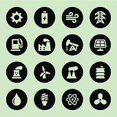 Vector file of Energy and Industry icons - Circle