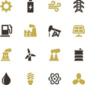 Vector file of Energy and Industry Icons - Color Series related vector icons for your design or application.Raw style. Files included: vector EPS, JPG. See more in this series.