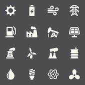 Vector file of Energy and Industry Icons - White Series related vector icons for your design or application.Raw style. Files included: vector EPS, JPG. See more in this series.