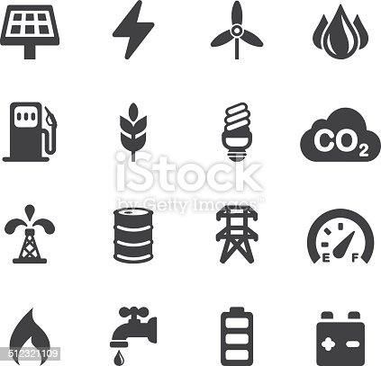 istock Energy and Industry Silhouette icons | EPS10 512321109