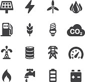 Energy and Industry Silhouette icons