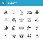 20 Energy Outline Icons.