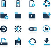 Blue vector icons for your web or mobile projects.