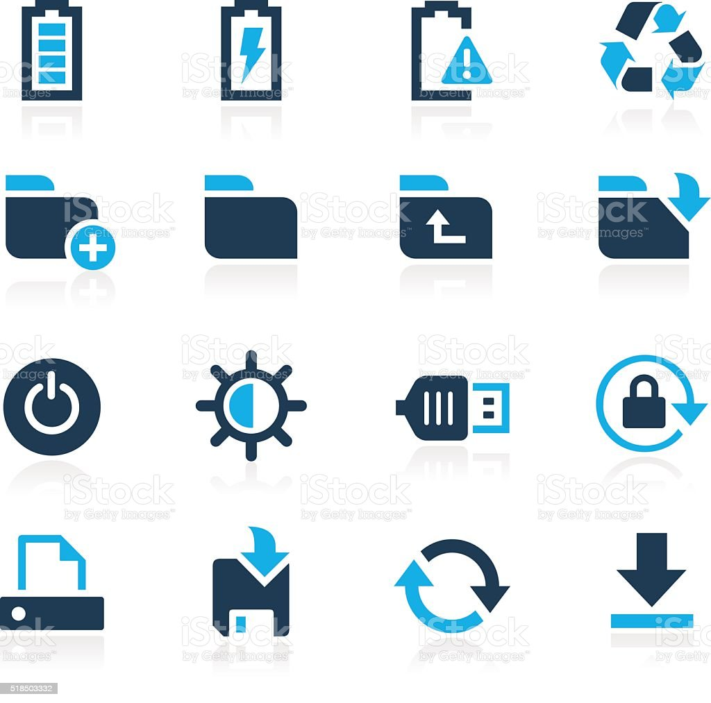 Energy and Storage Icons // Azure Series vector art illustration