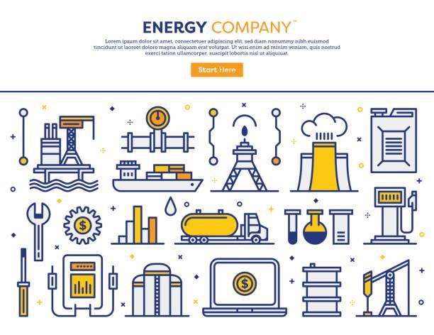エネルギー企業コンセプト ベクターアートイラスト