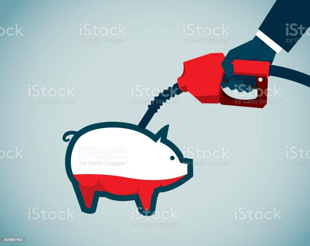 energy crisis, vector art illustration