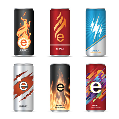 Energy drink cans design