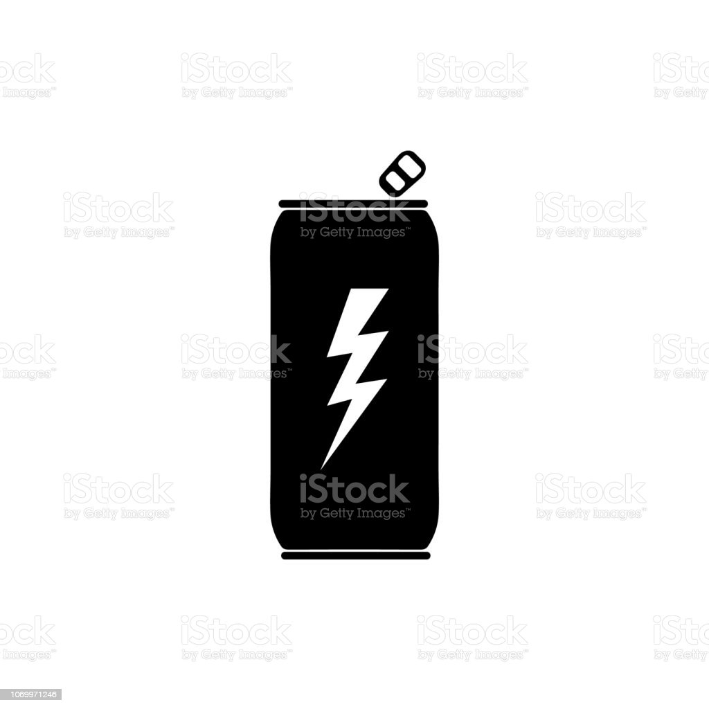 Energy drink icon on white background vector art illustration
