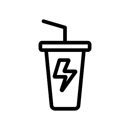 Energy drink icon vector. Isolated contour symbol illustration