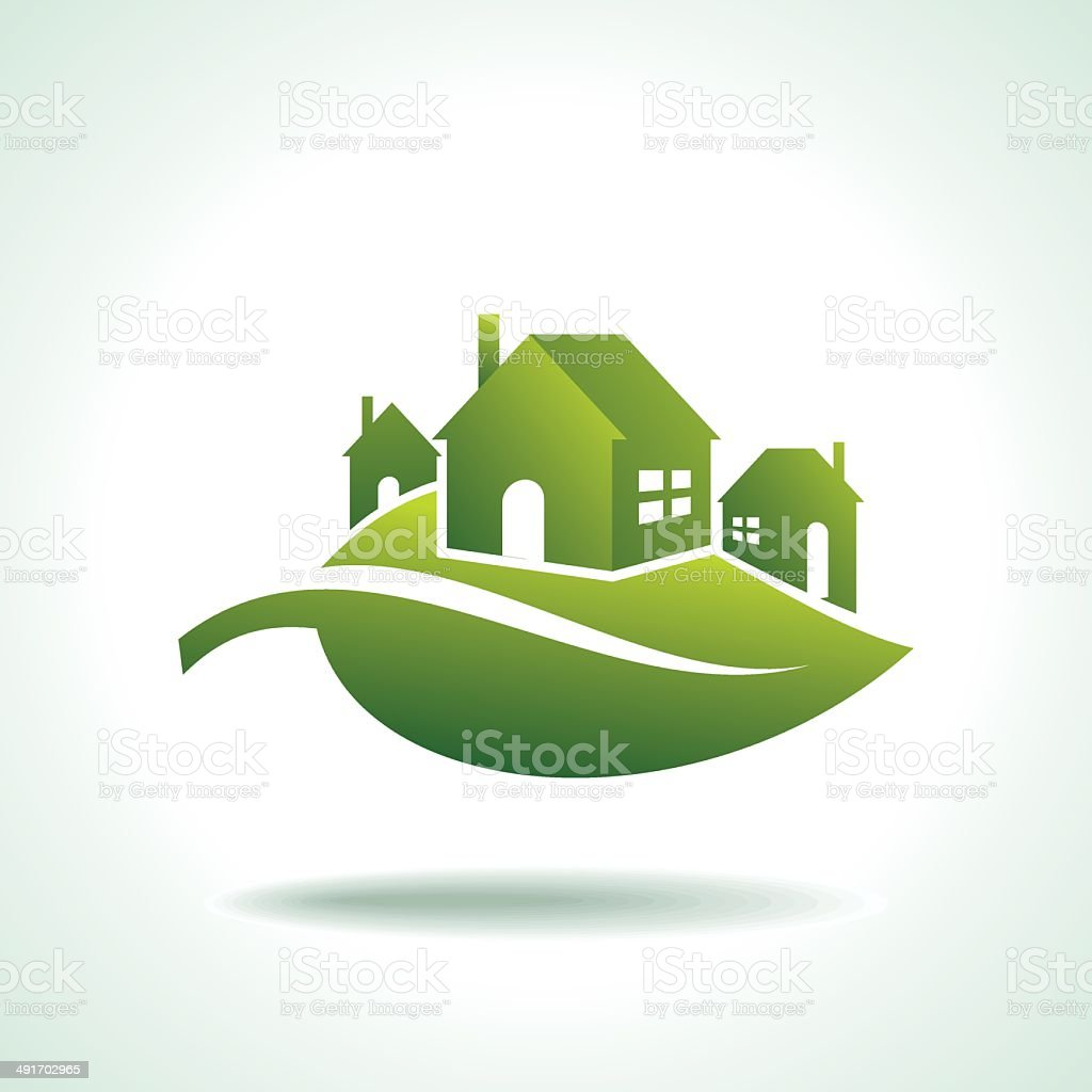 energy eco icon with house vector art illustration