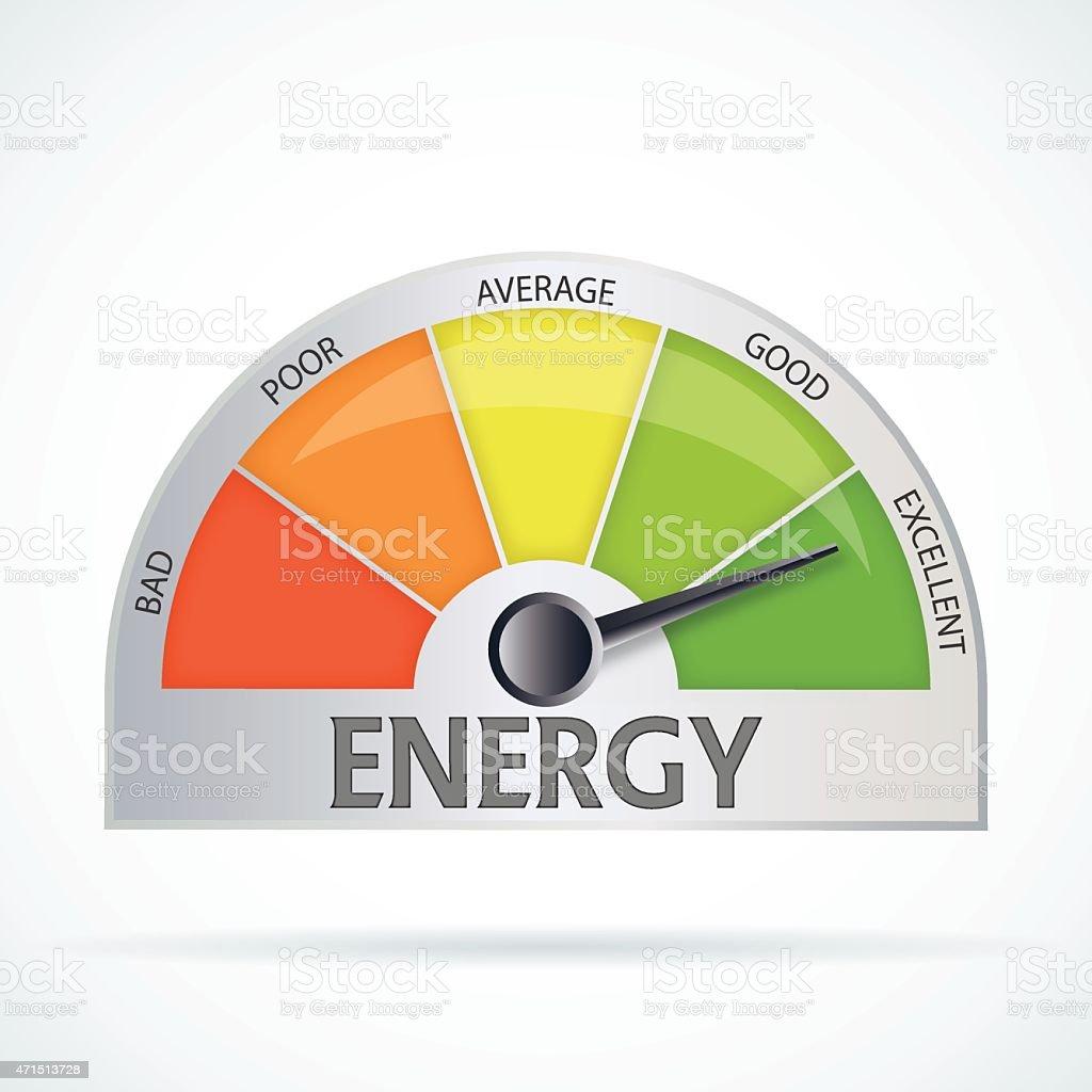 Energy efficiency chart vector art illustration