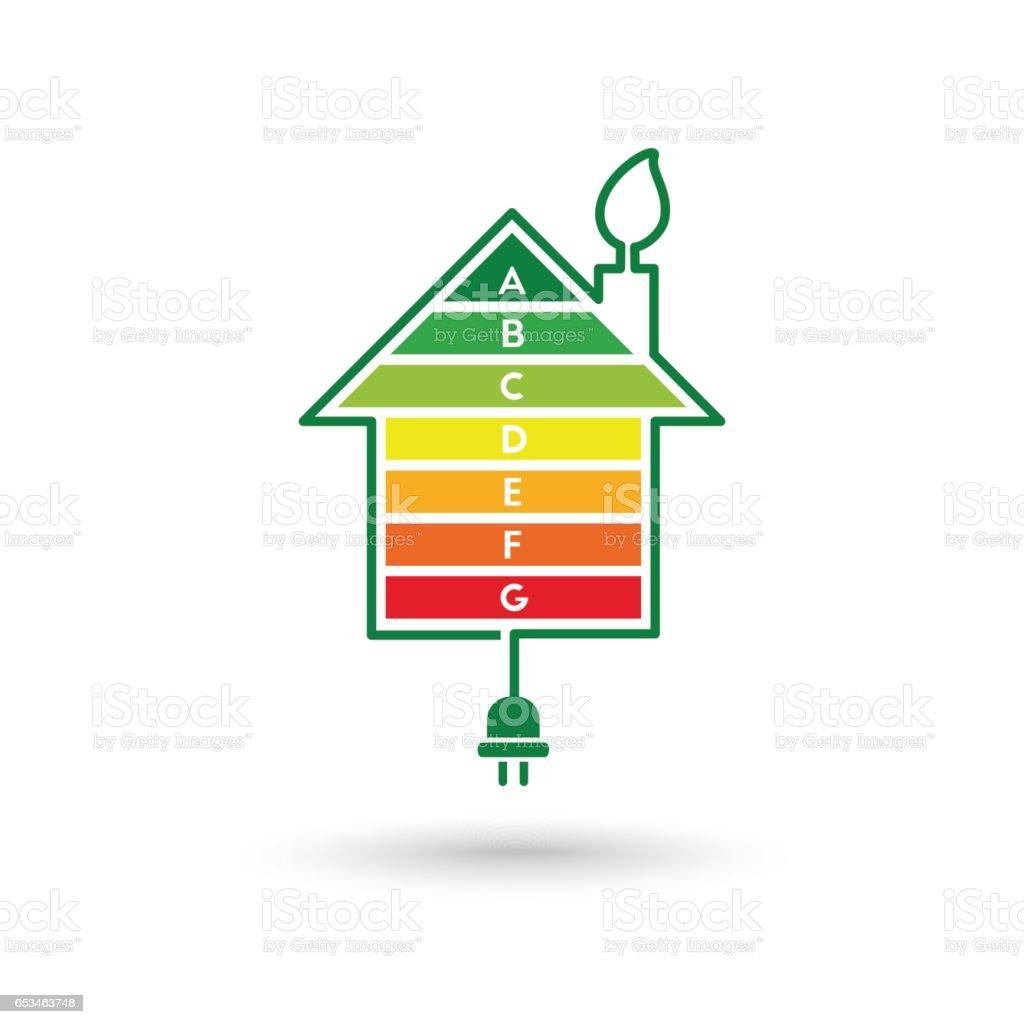 Energy efficient house vector art illustration