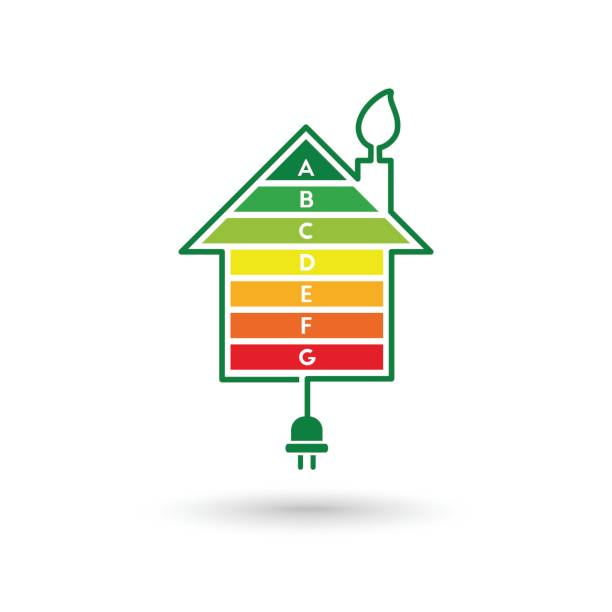 energy efficient house - electrical wiring home stock illustrations, clip art, cartoons, & icons