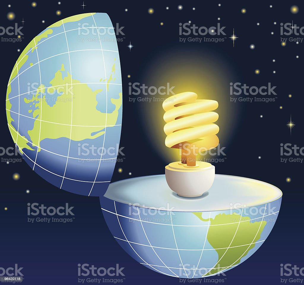 Energy efficient Light Bulb Illustration royalty-free stock vector art
