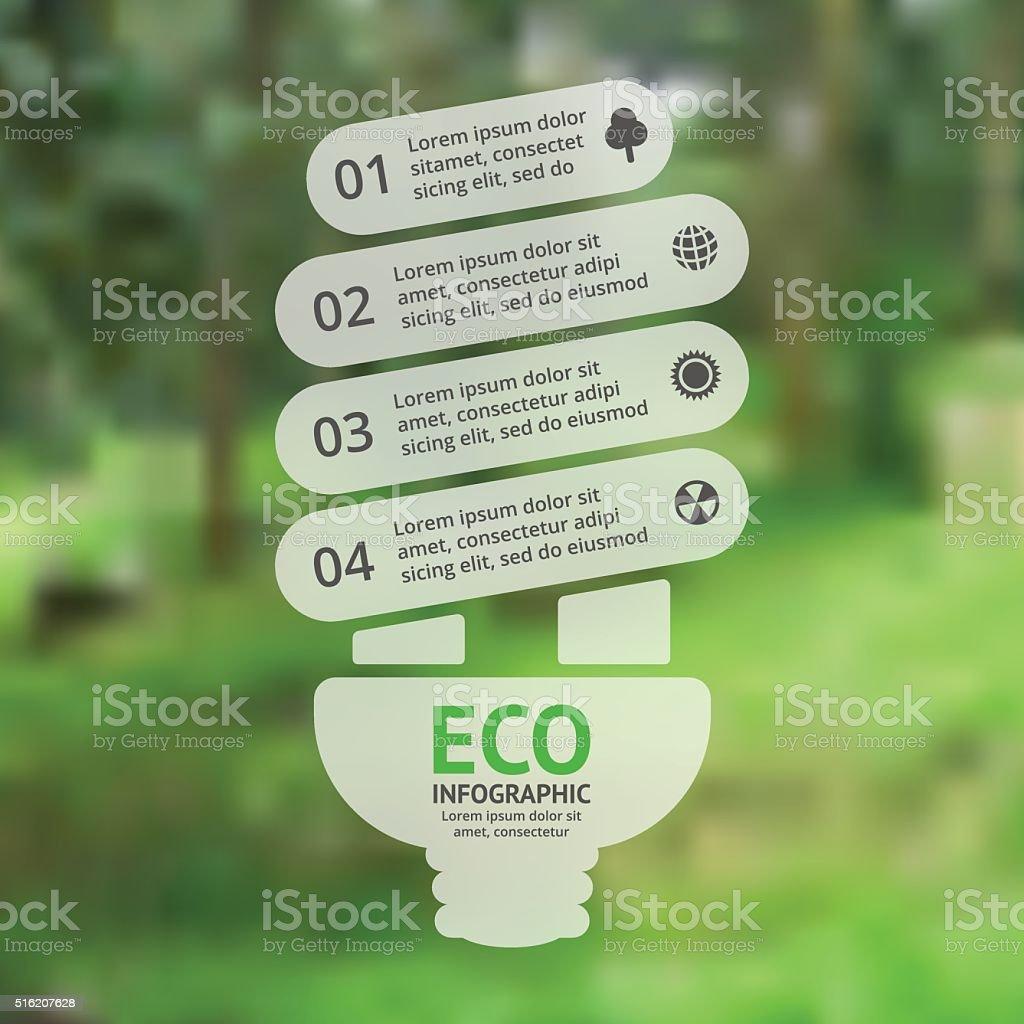 Energy Efficient Light Bulb Vector Green Eco Infographic Ecology Lightbulbsymbolcircuitdiagram Symbol Circuit Diagram Royalty Free