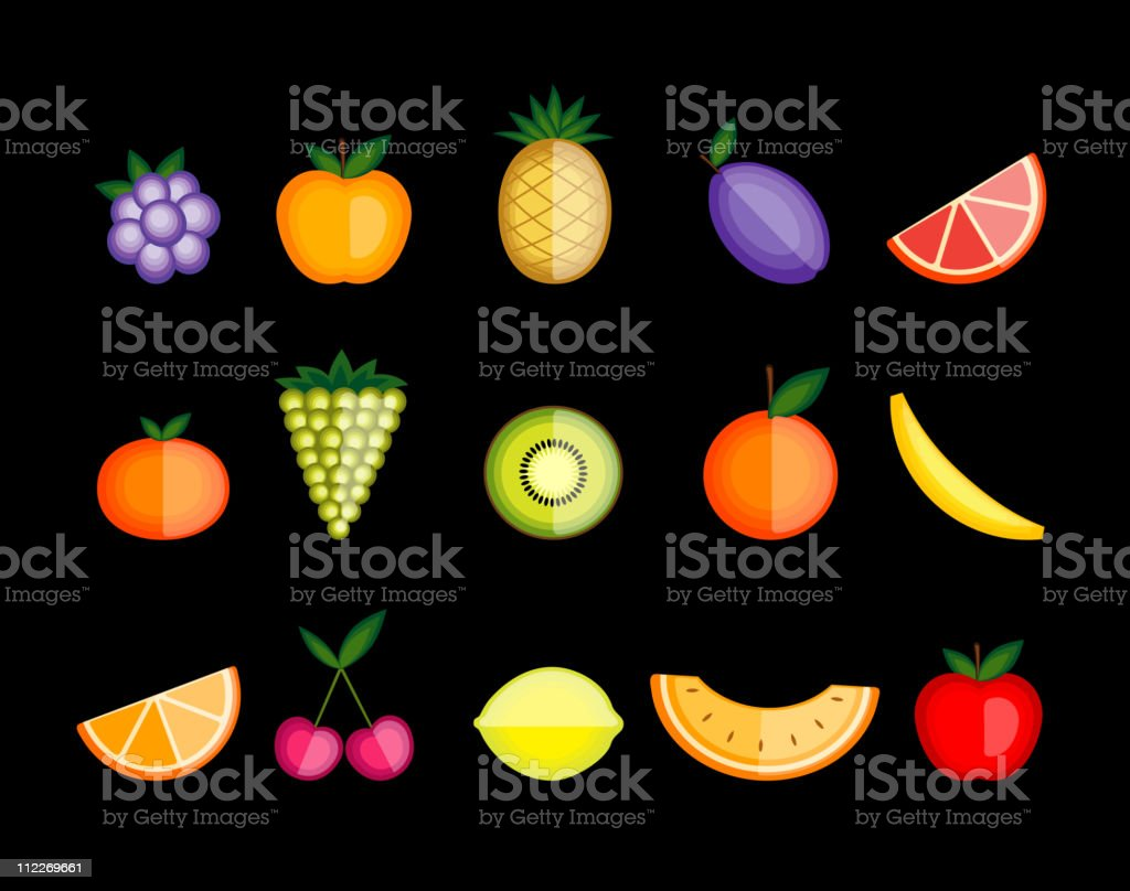 Energy fruits. Vector collection for your design royalty-free energy fruits vector collection for your design stock vector art & more images of apple - fruit